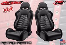 "Pro Series - ""Sport Villain"" Complete Racing Style Bucket Seats - Universal Fit"