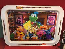 Vtg MTV 1991 Nickelodeon Eurekas Castle Metal TV Tray w/ Legs Cartoon Muppets