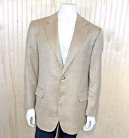 Brooks Brothers 346 Men 42R Suit Jacket Sport Coat 2 Button Brown Silk Wool