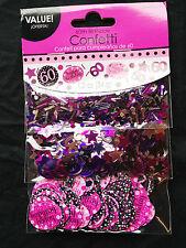 60TH ANNIVERSAIRE Décoration de table CONFETTI Sprinkle noir rose violet 60 ans