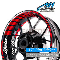 "Red GP2 Rim 17"" Wheel Decals Tape Fit Honda CBR650R CB1000R CBR250RR"