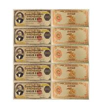 Festival Souvenir Gifts 100 Dollar 24k Gold Banknote US Note Money Artwork 5pcs