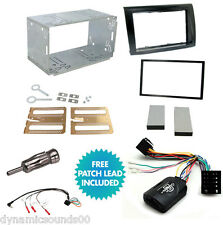 Double Din Car Stereo Fitting Kit, Fascia Stalk Aerial Adaptor For FIAT Bravo