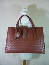 AUTH NWT Bottega Veneta Medium Roma Bag In Russet Intrecciato Calf Leather $3750