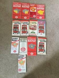 London Bus Maps Bundle (13 items).