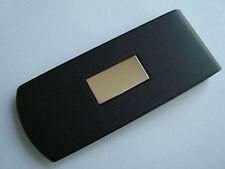 Gold Insert Engraveable Money Clip #9 Nos Simmons Steel Metal Black Painted 14K