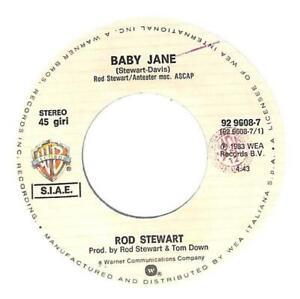 """Rod Stewart Baby Jane 7"""" Vinyl Record Single 1983 929608-7 45 VG+"""