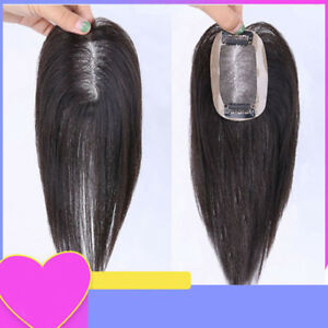 Real Human Hair Handmade Remy Clip in Topper Full Head Neat Women Hairpiece Wigs