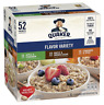 Quaker Instant Oatmeal Variety Pack 52 Ct Maple Brown Sugar Apple Cinnamon Spice