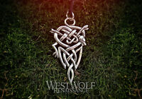 Viking Wolf Knot Pendant --- Norse/Celtic/Medieval/Knotted/Silver/Jewelry/Skyrim
