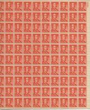 1955 1/2 cent Liberty Issue full Sheet of 100 Scott #1030, Mint Nh,