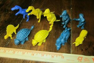 Marx dinosaur models x10 Blue and Yellow!