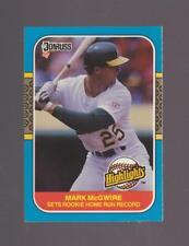 1987 Donruss Highlights # 27 Mark McGwire Oakland A's NEAR MINT to MINT