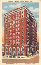 Mississippi postcard Vicksburg Vicksburg Hotel linen