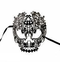Maschera Di Venezia Tete De Morto IN Pizzo Di Metallo 1162 V59