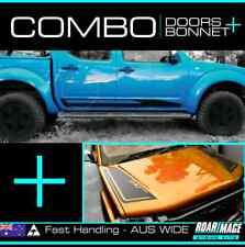 Combo DOOR & BONNET stripes kit fits D40 Nissan Navara decals stickers 4wd 4x4