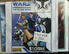 STAR WARS:THE CLONE WARS FULL SET OF STICKERS X240