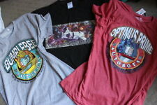 3 X TRANSFORMERS T-SHIRT MEN'S CLOTHING COLLECTION IN MEDIUM M OPTIMUS, MEGATRON