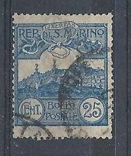 1903 SAN MARINO USATO VEDUTA 25 CENT - RR9122