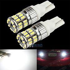 2X T10 168 High Power 3014 Chip LED 6000K Xenon White Reverse Backup Light Bulbs