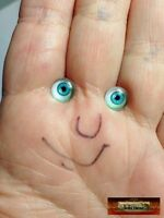 Glass Eyes 8mm Blue Mini Small 8 mm Doll Baby M00235 MOREZMORE Miniature