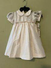 Will'beth girls dress size 24 mo. silk, new w/tags