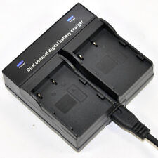 Dual Battery Charger For PENTAX D-LI50 NP-400 Samsung SLB-1674 Sigma BP21 Camera