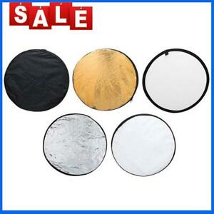 5 in 1 Collapsible Light Round Photography Reflector for Studio Multi Photo Top