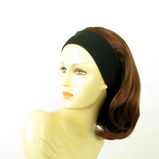 headband wig mid long blond dark brown copper intense ref: MADY 322