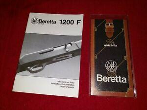 Factory Original Beretta 1200 F Shotgun Instruction Owners Manual Gun Parts
