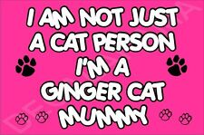 I'M NOT JUST A CAT PERSON I'M A GINGER CAT MUMMY Fridge Magnet GIFT KITTEN