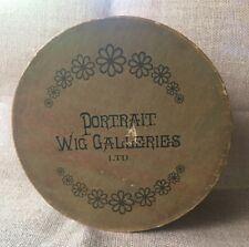 Antique Portrait Wig Galleries Ltd Round Paper Wig Box 8� X 4.5�
