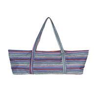 "Handmade Stripes Bag Cotton Fabric Yoga/Pilates Mat Bag with Handle Fits 24"" Mat"