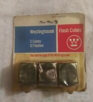Vtg Westinghouse 3 Flash Cubes 12 Flashes Sealed in Original Box