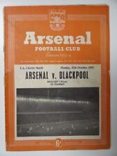 More details for arsenal v blackpool | 12 oct 1953 | charity shield programme | 1953/1954