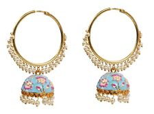 Ethnic Traditional Gold Plated Indian Fashion Earrings Partywear Jewellery