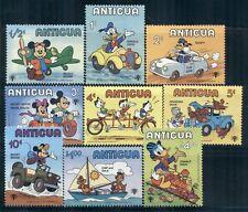 ANTIGUA 562-70 SG637-45 MH 1980 Disney Transportation Scenes set of 9 Cat$6