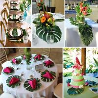 Table Decoration Artificial Palm Leaves Party Jungle Beach Theme Accessories