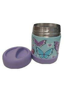 Pottery Barn Kids Mackenzie Lavender Butterfly Hot & Cold Container 10 floz. NEW