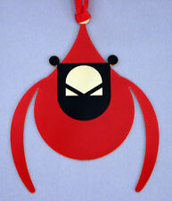 Charlie/ Charley Harper- Brass Christmas Ornament - FLYING CARDINAL - bird art
