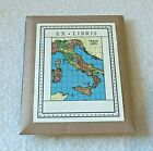 Cavallini & Co Book Plates Italy Map Set of 18 Home Library Bibliophile - NEW