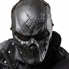 Airsoft Face Mask Paintball Camo Protection Tactical Overhead Skull Helmet Black
