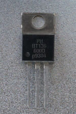 Philips BT136-600D TRIAC TO-220AB 600V 4A