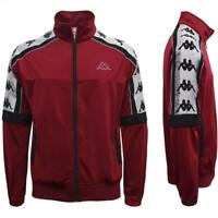 FELPA KAPPA UOMO 303IT90 908 JACKET 10 MAN RED BORDEAUX ROSSO NERO ORIGINALE