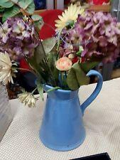Vintage Martha Stewart periwinkle ceramic pitcher vase