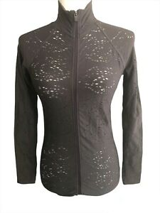 Fabletics Luciana NWT Moisture wicking Full Zip Charcoal Active wear jacket XS