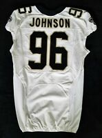 #96 Tom Johnson of New Orleans Saints NFL Locker Room Game Issued Worn Jersey