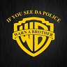 If you see da Police Warn a Brother Cop Gelb Auto Vinyl Decal Sticker Aufkleber
