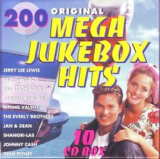200 Original Mega JUKE-BOX HITS - 10 CD box