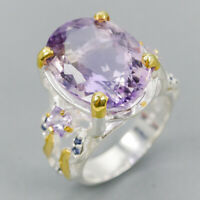 Handmade Ring Natural Ametrine 925 Sterling Silver Ring Size 8/R123705